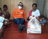 Ação da prefeitura de Ipixuna leva mantimentos para famílias atingidas pela cheia do rio Juruá